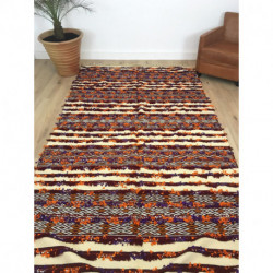 Grand tapis berbère Handira orange violet