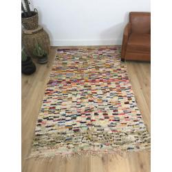 Superbe tapis berbère Boucherouite multicolore