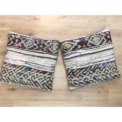 Paire de coussins Kilim berbère noués à la main