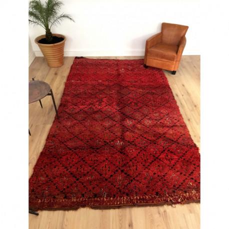 Sublime tapis berbère Beni M'Guild rouge bordeaux