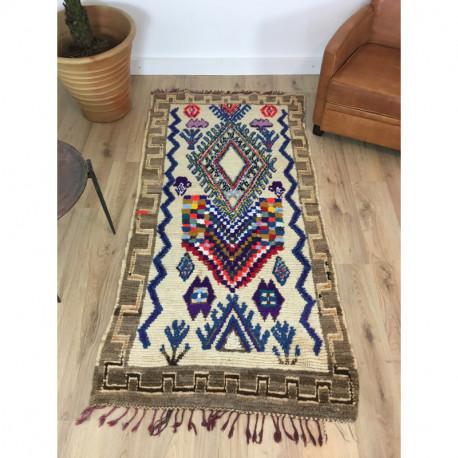Tapis berbère Boujad coloré motifs ethniques