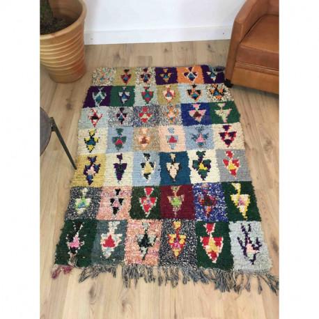 Tapis berbère Boucherouite style patchwork