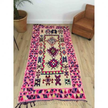 Ancien tapis berbère Boujad coloré