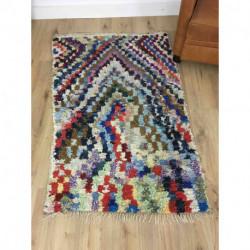 Petit tapis Boucherouite coloré