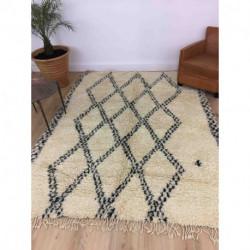 Ancien tapis Beni Ouarain motifs géométriques
