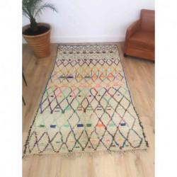 Tapis Azilal berbère motifs géométriques couleurs douces
