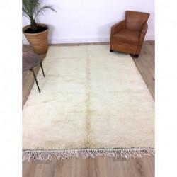 - RÉSERVÉ - Rare tapis berbère Beni Ouarain blanc couleur unique