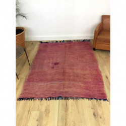 Ancien et authentique tapis Beni M'Guild nuances de rose