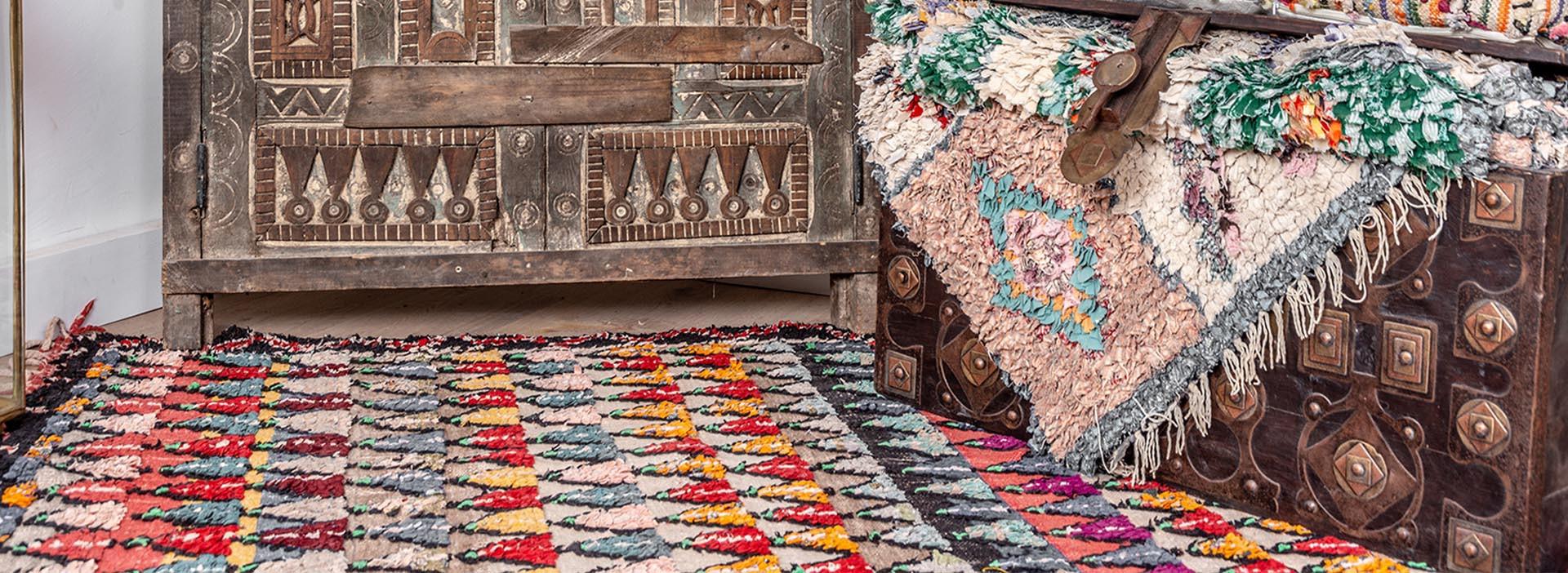 Tapis berbères colorés pour l'été